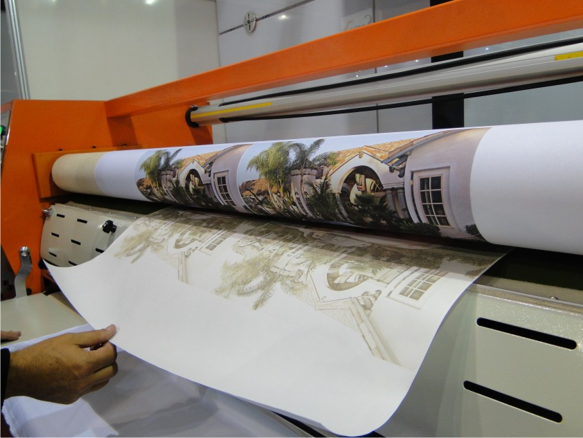 Sublimation art production graphic & cloth with sublimation