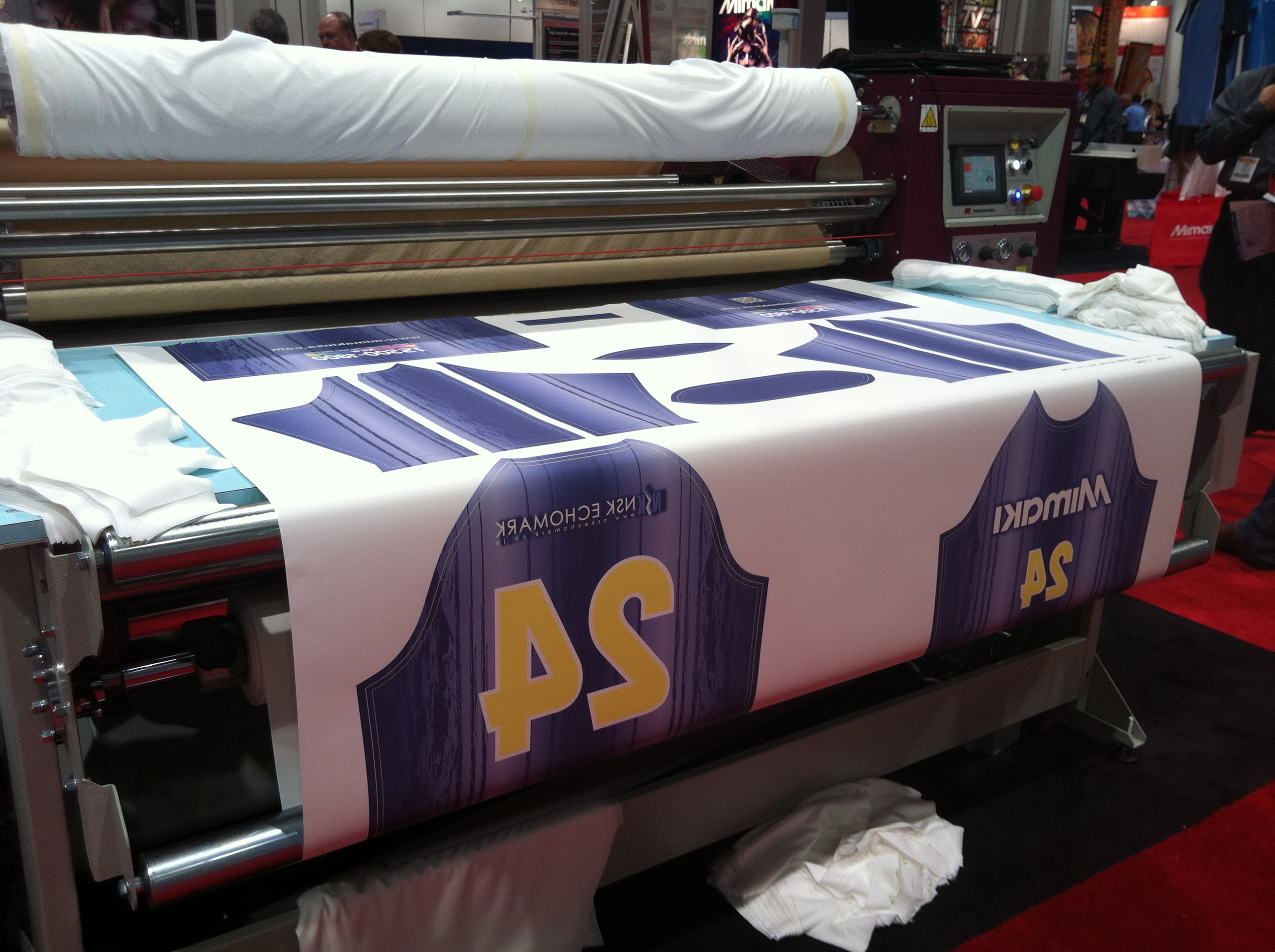 Dye sublimation printer primary color on fabrics 2 for Fabric printing