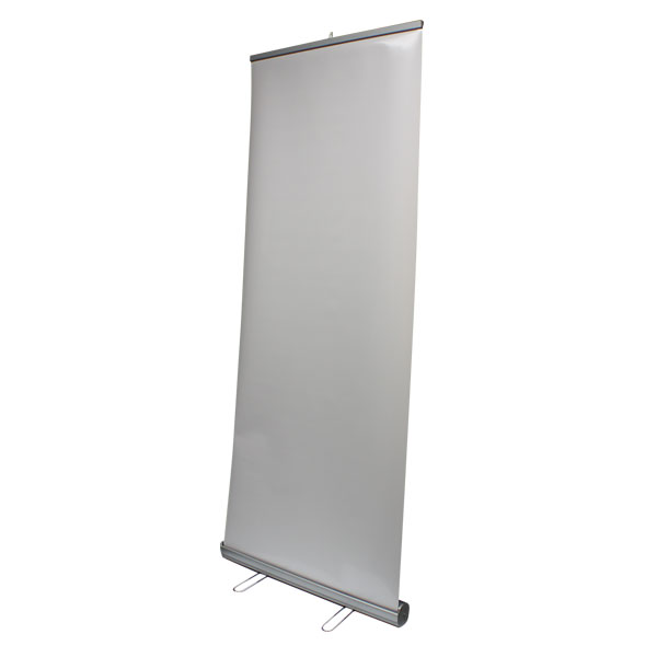 Silver Retractable Banner Stand 23 Quot X 79 Quot