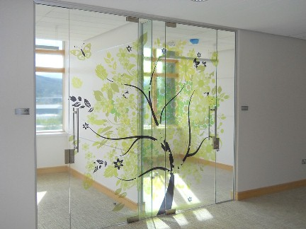 Clear Self Adhesive Vinyl Sticker Backlit Printing - Vinyl stickers for glass