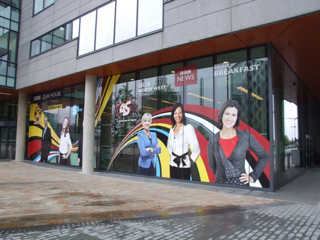 Perforated Vinyl Outdoor Install Window Display Printing