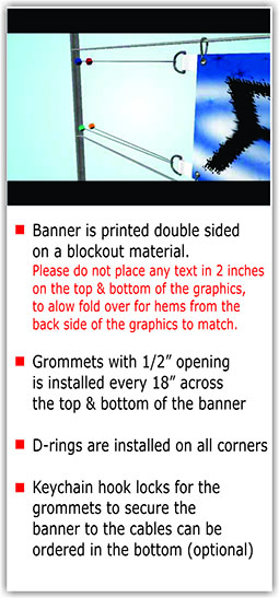 Over the Street Blockout Double Sided Banner - Pole Banners