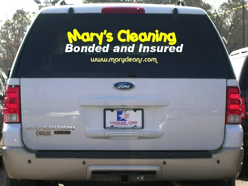 Vehicle Graphics Letters - Vinyl window clings for cars